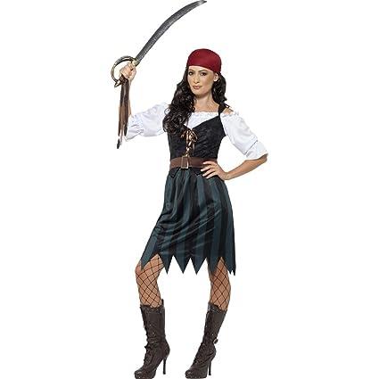 Amakando Traje corsaria Disfraz Pirata Mujer S 36/38 ...