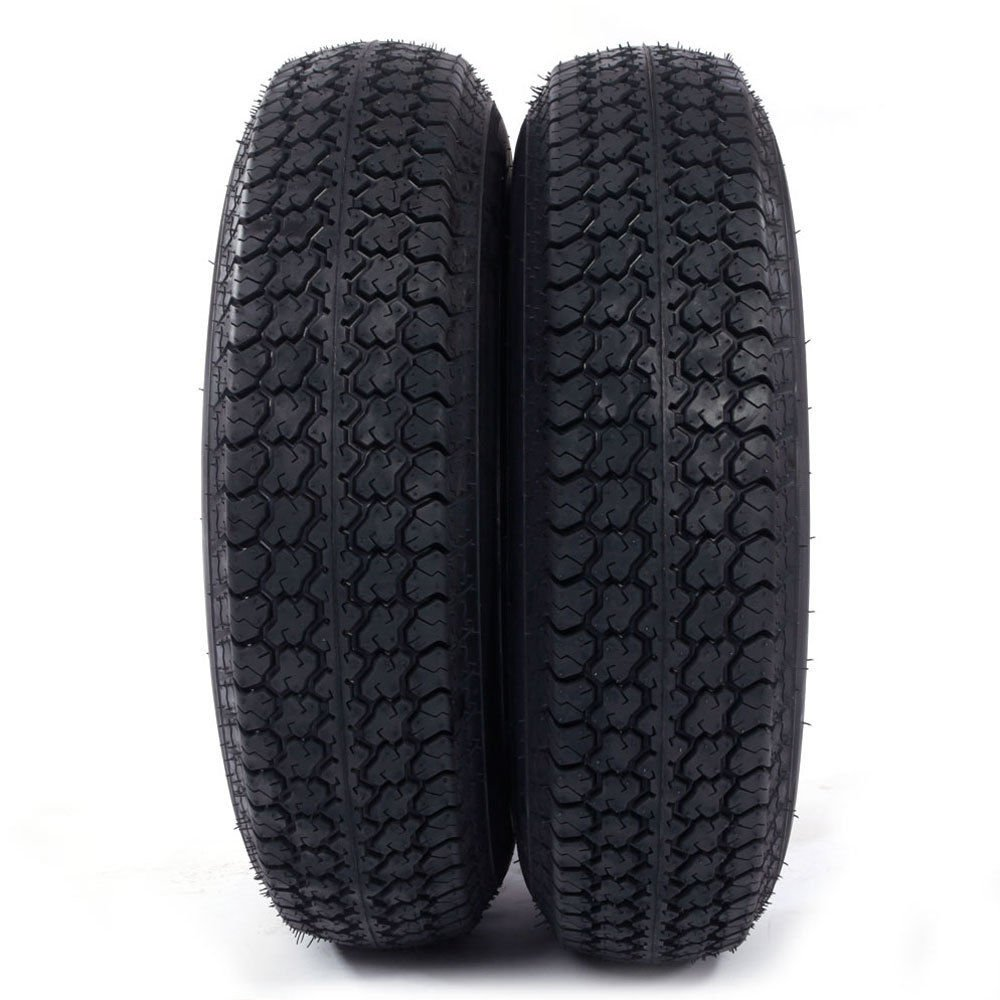 Set of 2 15'' White Spoke Trailer Wheel with Bias ST205/75D15 Tire Mounted (5x4.5) bolt circle by Roadstar (Image #4)