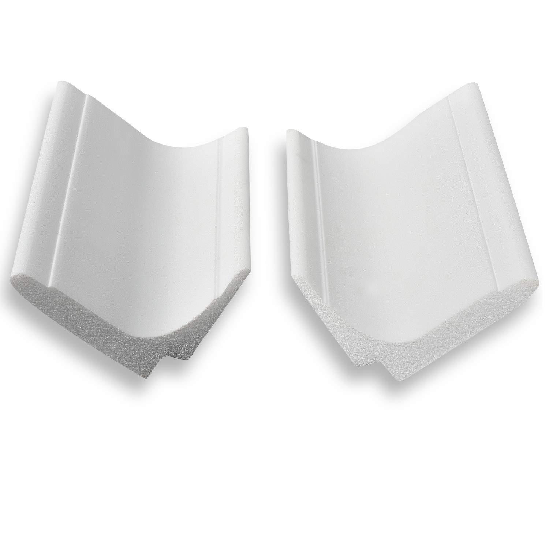 DECOSA Innenecke f/ür Zierprofil L100 SASKIA- 4 Ecken Multifunktionale Stuckleiste in Wei/ß 8 Leisten /à ca Zierleiste aus Styropor 65 x 100 mm F/ür Decke und Wand 20 cm L/änge