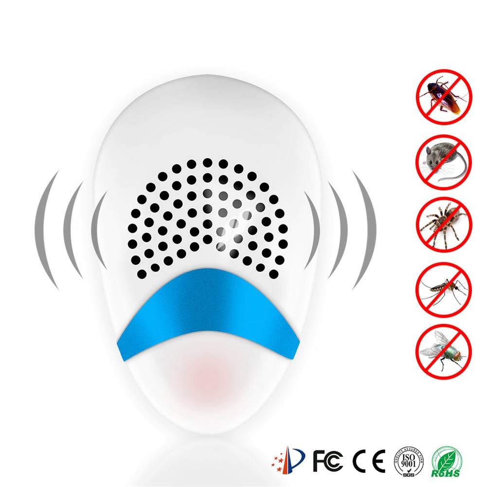 LDRAGON Ahuyentador Electrónico Hogar Smart Alta Potencia Mosquito Repelente Mini Animal Drive Seguro Ultrasónico Silencio Protección del Medio Ambiente-11 ...