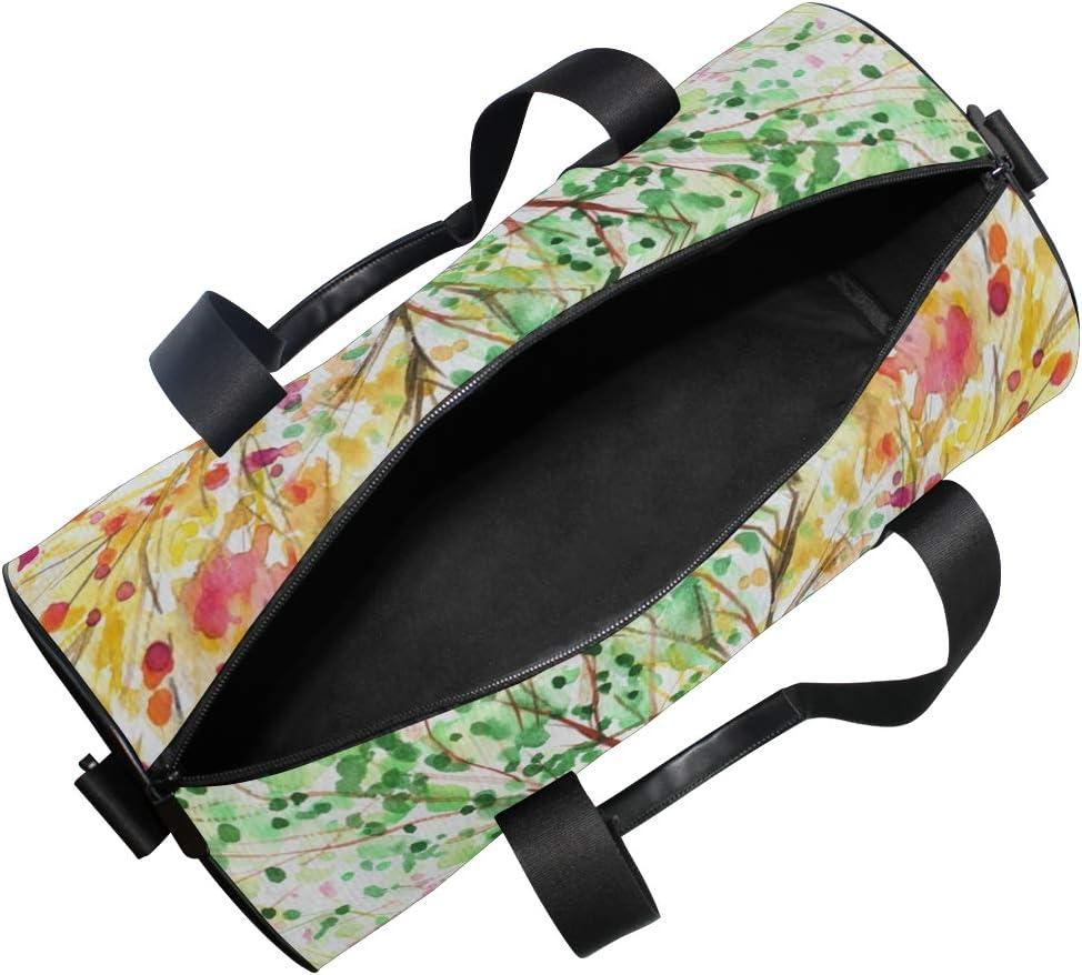 Sports Bag Colorful Four Season Tree Branch Mens Duffle Luggage Travel Bags Kid Lightweight Gym bag