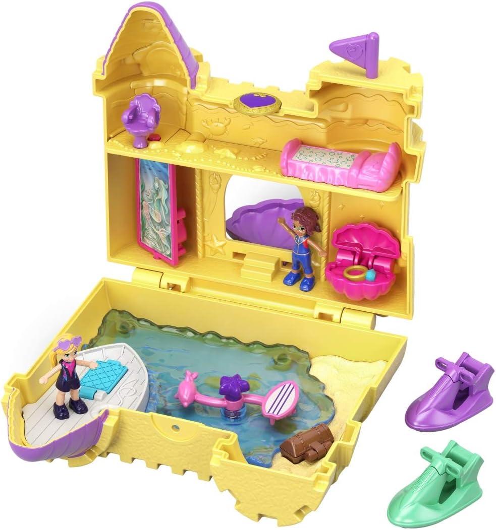 Amazon.es: Polly Pocket Cofre Castillo de Arena, muñeca con accesorios (Mattel GCJ87), color/modelo surtido: Juguetes y juegos