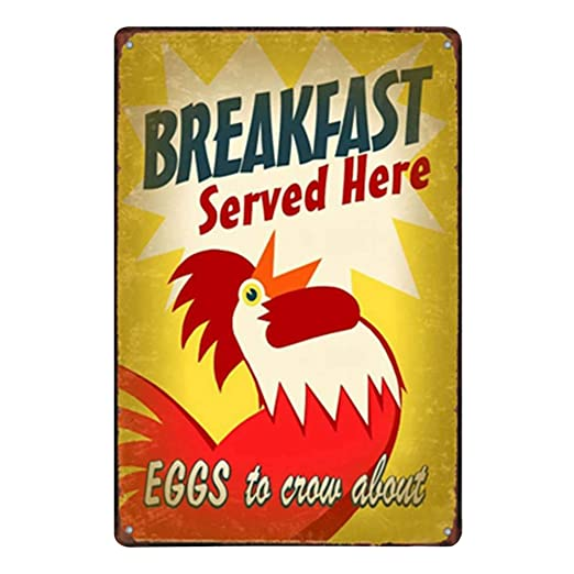 Doitsa 1x Retro Cartel de Chapa Placa Metal Tin Sign Gallo ...