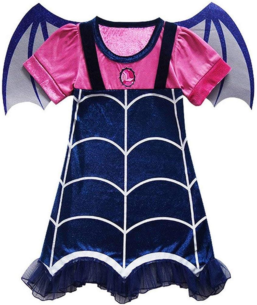 Divilon Disfraz de vampirina para niña, Disfraz de Halloween ...