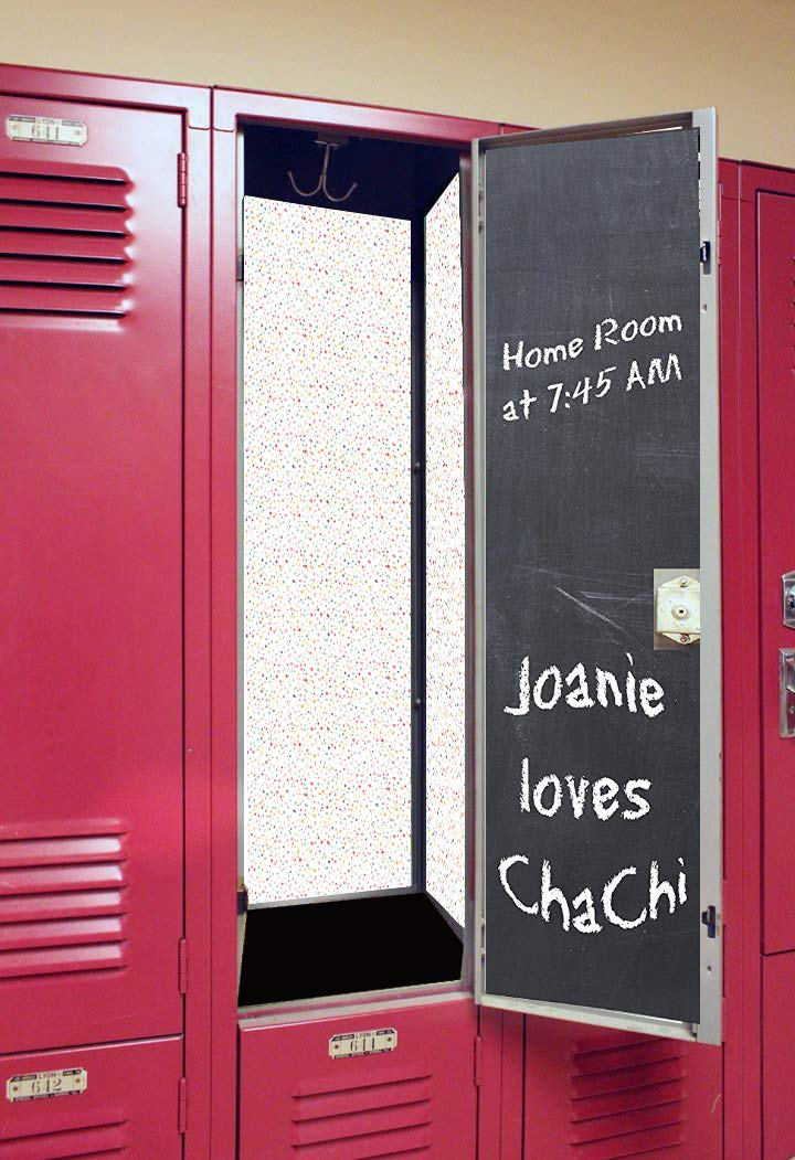 Back to School Magnetic Locker Wallpaper Swirl with Chalkboard Door