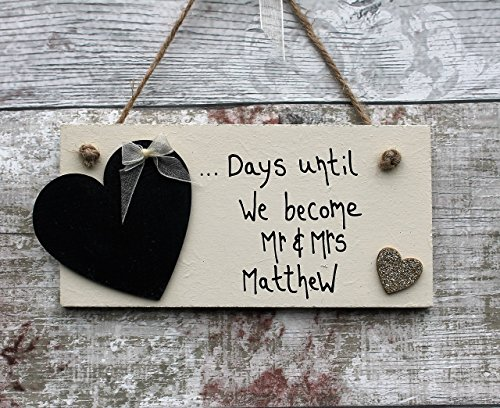 madeat94-wedding-countdown-engagement-gift-plaque-sign-chalkboard-with-glitter-golden-heart