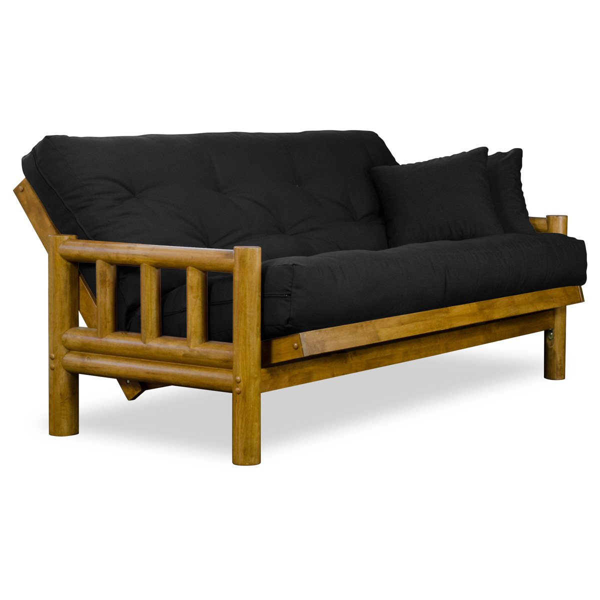 Amazon.com: Rustic Tahoe Log Full Size Wood Futon Frame - Heritage ...