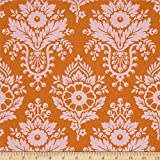 Lulu Persimmon from the Up Parasol collection by Heather Bailey for FreeSpirit Fabrics - Birds Leaves Flowers (Half yard)
