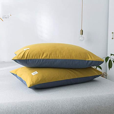 Amazon.com: JCCOZ Pillow Case Cotton Solid Color Pillow Case ...