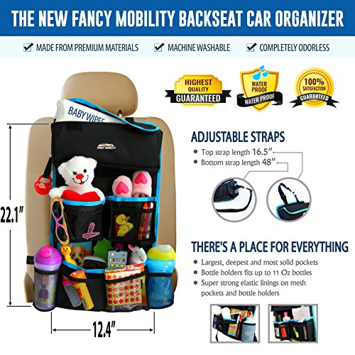 Backseat Car Organizer Kids Toy Storage Comes With Visor Organizer