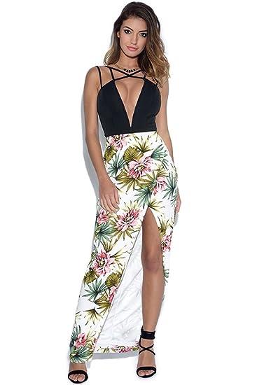 Vestry Rare Strappy Plunge Floral Maxi Dress  Amazon.co.uk  Clothing 4afa22703