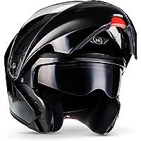 "MOTO Helmets® F19""Gloss Black"" · Motorhelm · Klaphelm modulaire helm flip-up integraalhelm motorhelm scooter helm sport…"