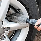 KathShop Car Accessories Wheel Brush Gray Car Styling Wash Soft Rubber Grip Brush car Detailing Cleaning Supplies Car Wash Brush