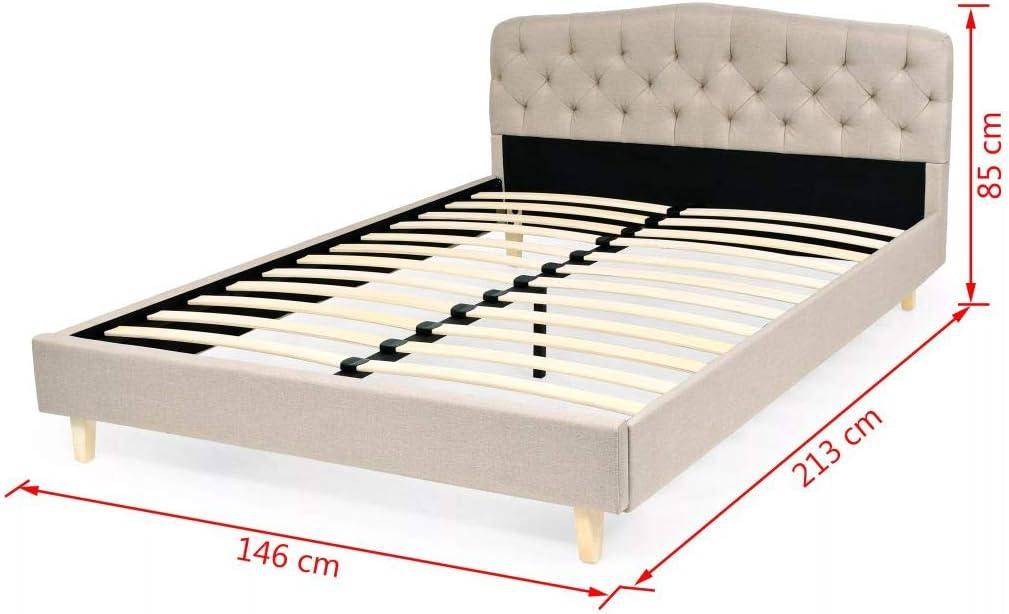 Fijo Night estructura de cama con somier plástico acolchado ...