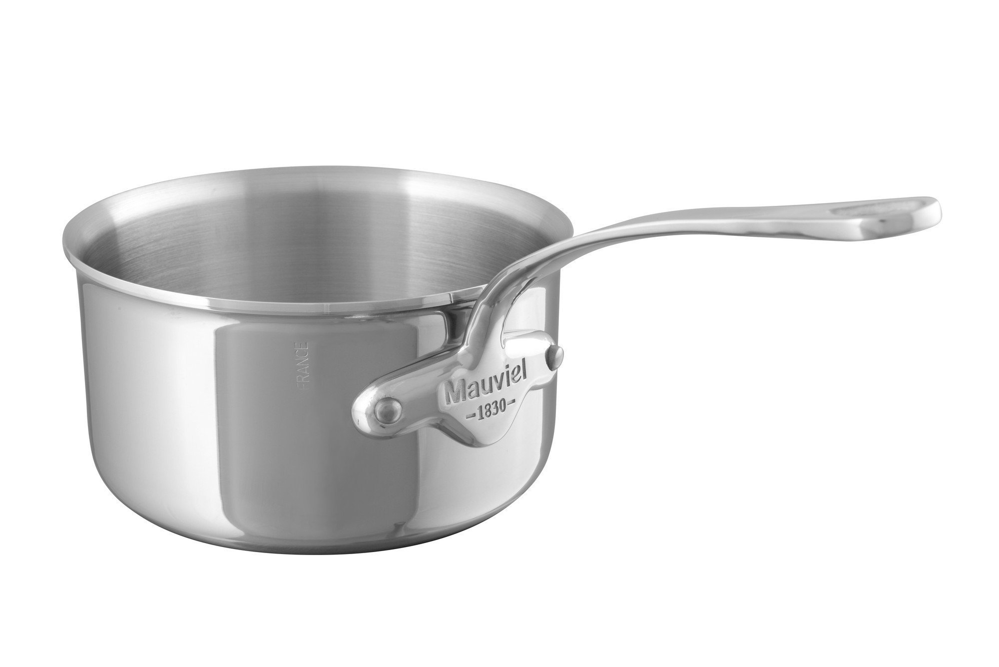 Mauviel 5210.12 M Cook Saucepan 12CM Cast SS Hdl 2.6MM M'Cook, 12'', Stainless Steel
