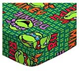 SheetWorld Fitted Portable Mini Crib Sheet - Ninja Turtles - Made In USA