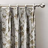 ChadMade Spring Lt Yellow Flowers Country Print Cotton Curtains 120'' W x 96'' L, Extra Wide Pinch Pleated Blackout Lining Darpes Panel For Bedroom Living Room Hotel Restaurant (1 Panel)