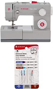 SINGER 4423 Heavy Duty Extra-High Sewing Speed Sewing Machine with Universal Heavy Duty Machine Needles -5/Pkg