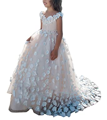 Amazon.com: SHENLINQIJ Girl\'s Pageant Dresses Teens Wedding ...