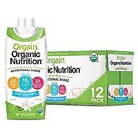 Orgain Organic Nutritional Shake, Sweet Vanilla Bean - Meal Replacement, 16g Protein, 21 Vitamins & Minerals, Gluten…