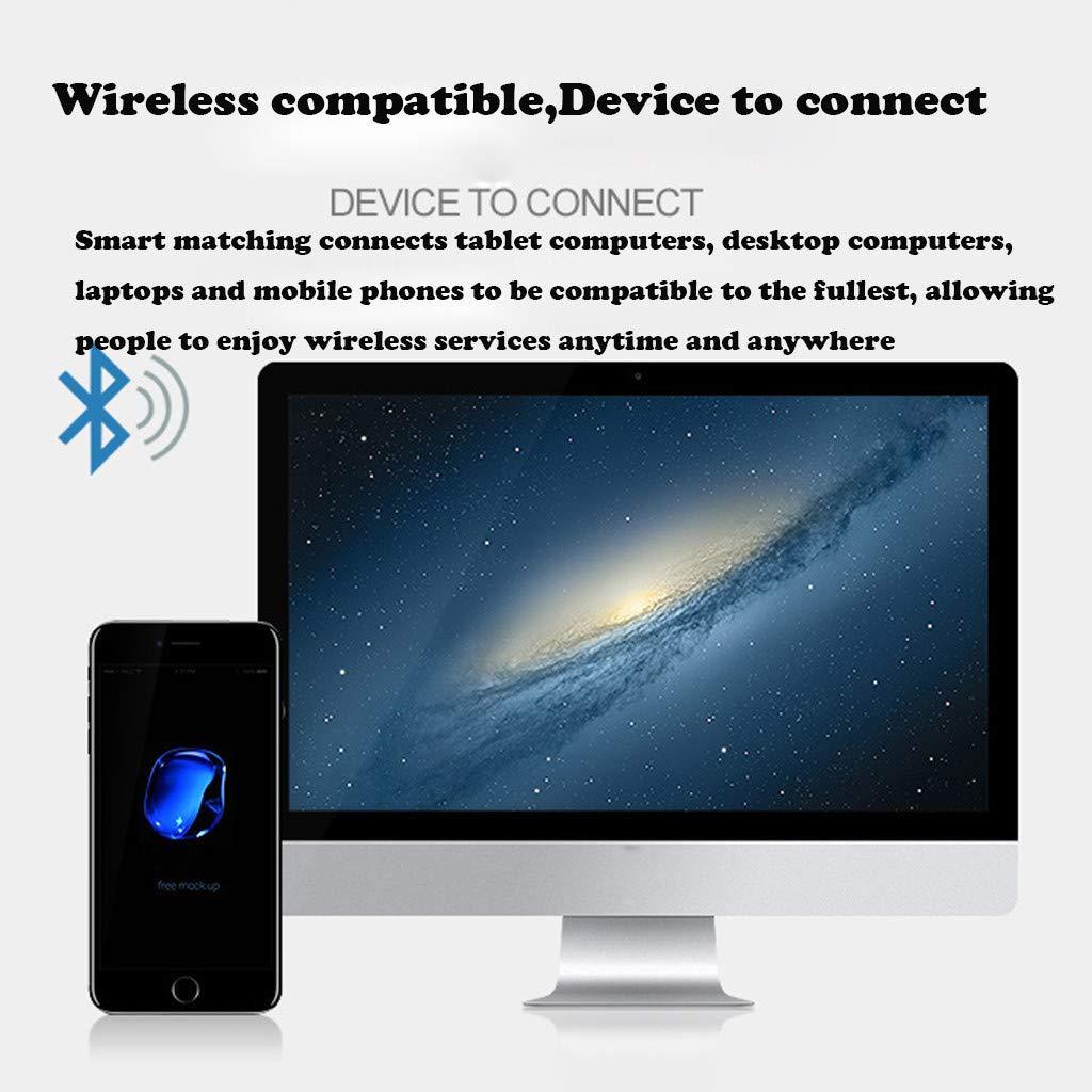 Waterproof Twins Mini Wireless Sport Earbuds, Bluetooth In-ear Stereo Earphones With 500mAh Capacity Charging Box (Black) by YNAA (Image #7)