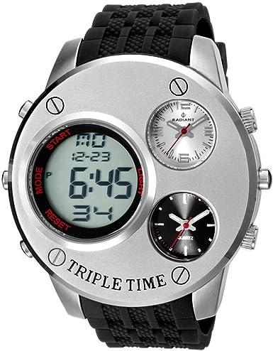 Radiant new moonspace reloj para Hombre Digital de Cuarzo con brazalete de Silicona RA252601: Amazon.es: Relojes