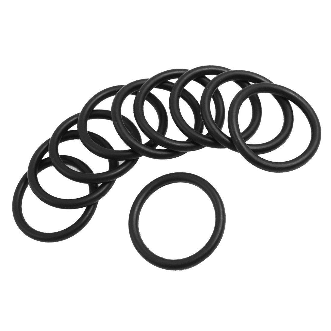 TOOGOO O Ring Waschmaschine 10 Stk Schwarz Nitril Gummi Dichtung O Ring Waschmaschine Tuelle 37x29x4mm R