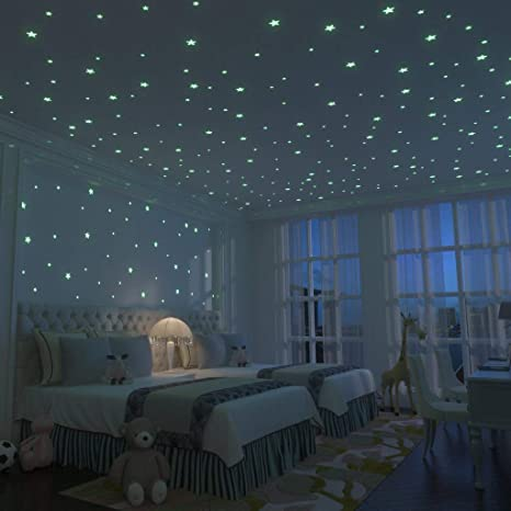 Amazon Com Glow Stars Supernova 200 Of The Brightest Glow In The Dark Stars Boxed Set With Adhesive Putty Mesh Pouch Free Constellation Guide Glow In The Dark Ceiling Star
