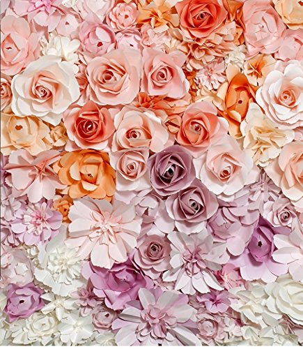Beautiful Floral Wall Photo Background Colored Flowers Wedding Photography Backdrop Booth Props Computer Printed cm-S-1358