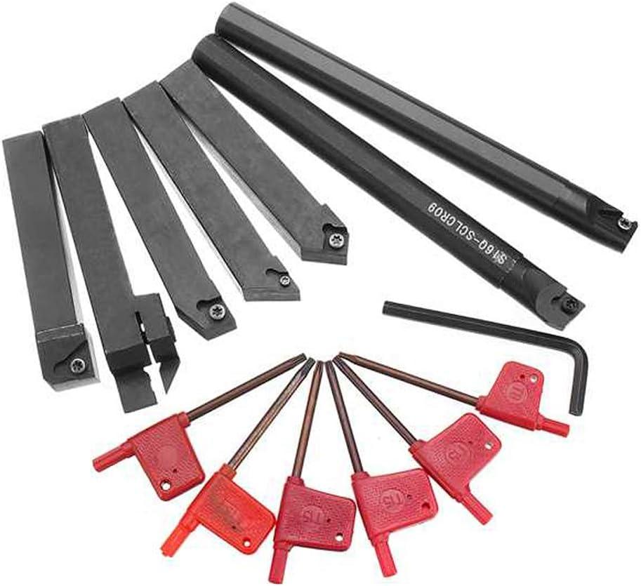 Shentesel 7Pcs//Set 16mm Metal Turning Tool Holder Boring Bar CNC Lathe Cutting Supplies