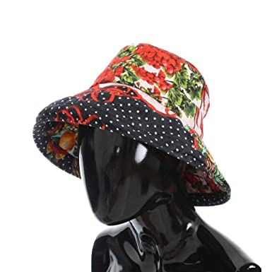 Dolce   Gabbana Carretto Print Wide Brim Bucket Hat  Amazon.co.uk ... 1d33090e9c0