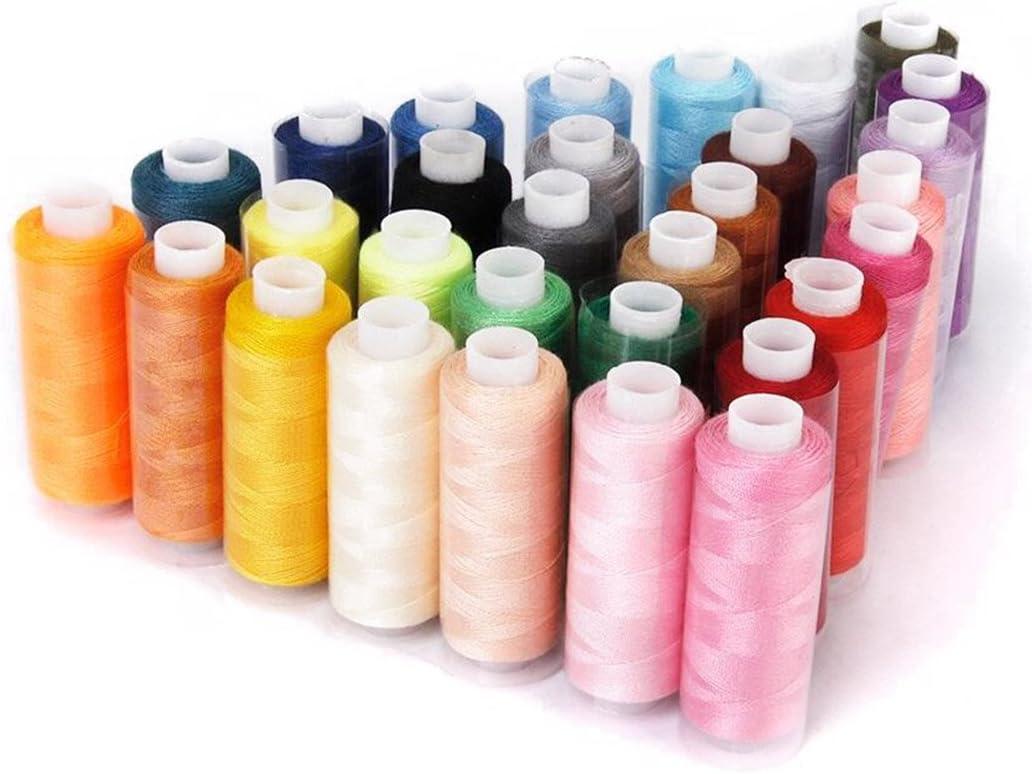 Bobina de poliéster para máquina de coser de 30 colores, 250 yardas por rollo, para bricolaje, juguetes de peluche, regalos hechos a mano