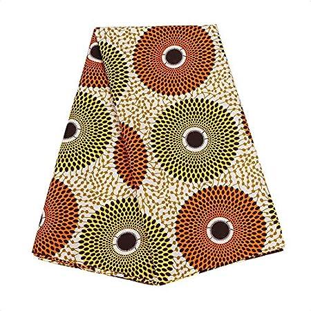 Estampado de cera africano 1 yardas de amarillo rojo y azul tela ANKARA 100/% algodón
