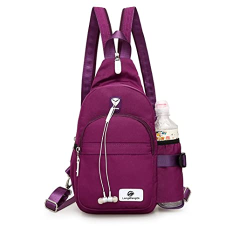 7d52e1f56864 Amazon.com  Mini Backpack Women Casual Daypack Outdoor Sling Chest Bag with  Water Bottle Holder Crossbody Bag Small Fashion Travel Bag for Girl  Momoty