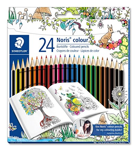 Resistant Colour (Staedtler Colored Pencils, Noris Color, soft break resistant core, ultra smooth, set of 24 assorted colors, 185 C24JB)