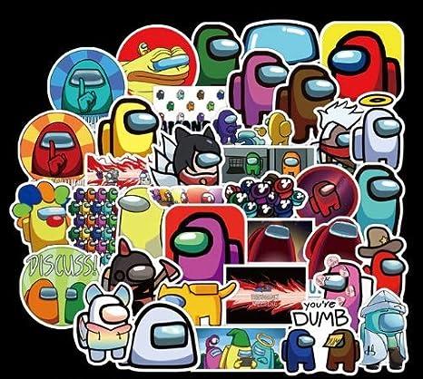 100PCS Among Us Hot Game Stickers Pack Skateboard Fridge Guitar Laptop