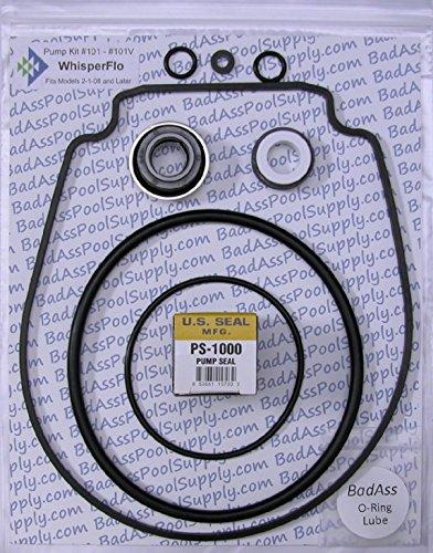 Pentair WhisperFlo/IntelliFlo, Complete O-Ring Rebuild Kit, OEM Black (Pump Gasket Kit)