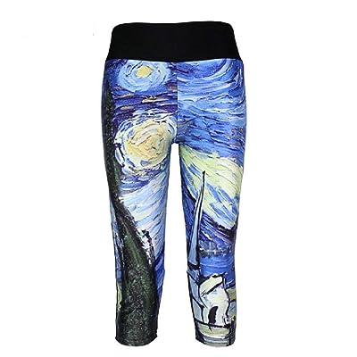 BIRAN Leggings para Mujer Galaxy 3D Imprimir Cintura Pantalones Deportivos Bastante Elástica Cintura Elástica Flaco Estirar Lápiz Pantalones Pantalones (Color : 8, Size : 4XL): Ropa y accesorios