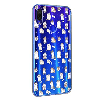 Funda Compatible with Xiaomi Redmi Note 7 Carcasa Silicona Redmi Note 7 Pro Case Transparente Marmaol Cover 360 TPU Resistente Caso Purpurina con ...