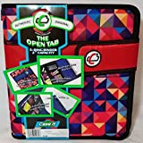 Case-it The Open Tab with Velcro Closure, 3-Ring Binder, 2'' Capacity, Multi-Colored Triangles, S-818-P