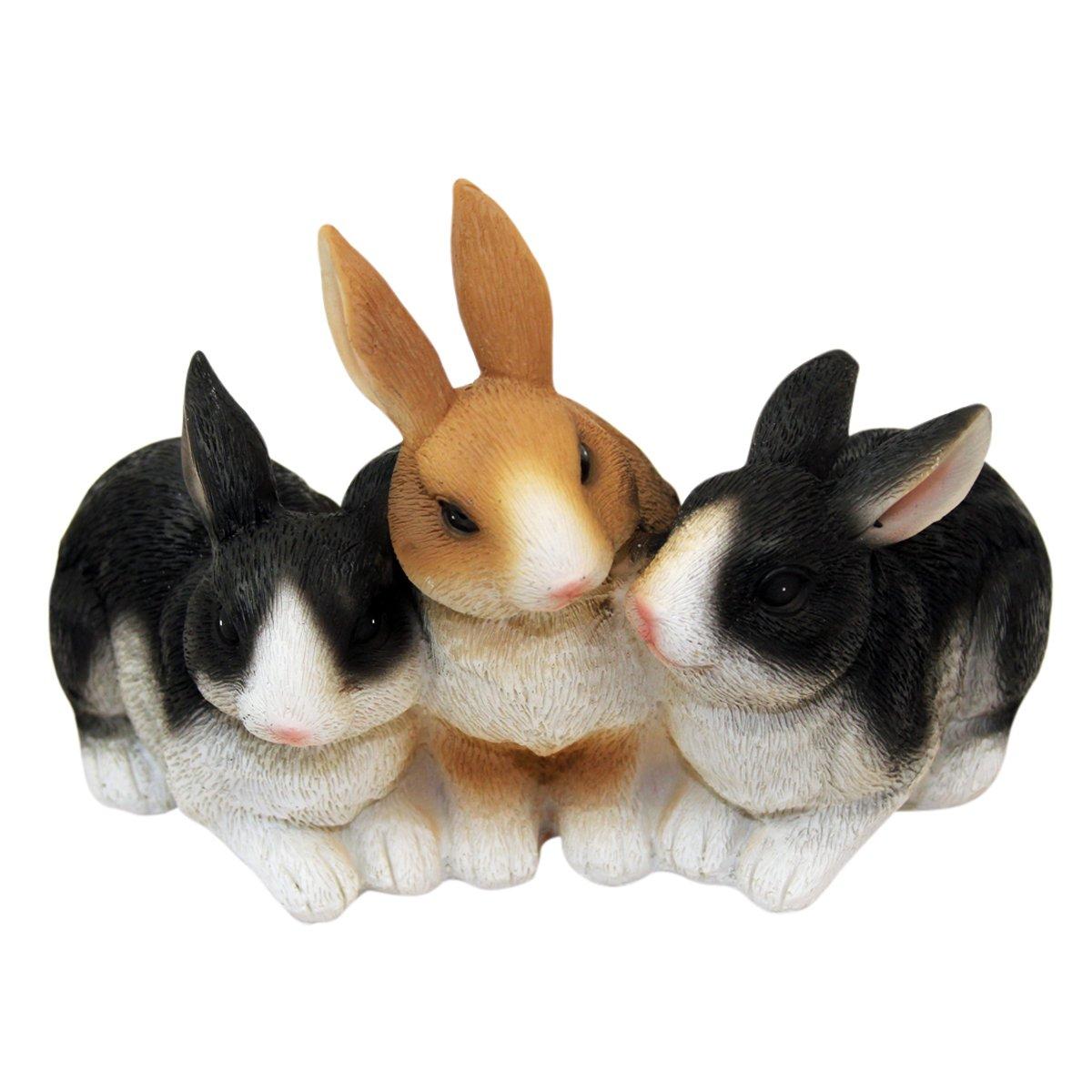 2er Set Hasen Häschen Kaninchen Garten Gartenfigur Gartendeko Handbemalt Ostern