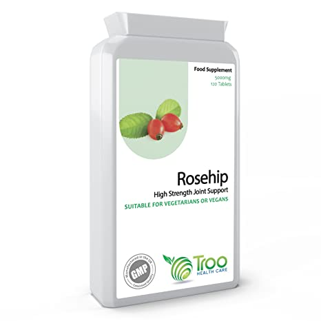 Rosa mosqueta 5000mg 120 Comprimidos - alta resistencia Conjunto de Apoyo Suplemento - Reino Unido Manufactured
