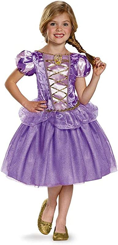 Child/'s Girls Disney Princess Deluxe Rapunzel Tangled Ball Gown Dress Costume