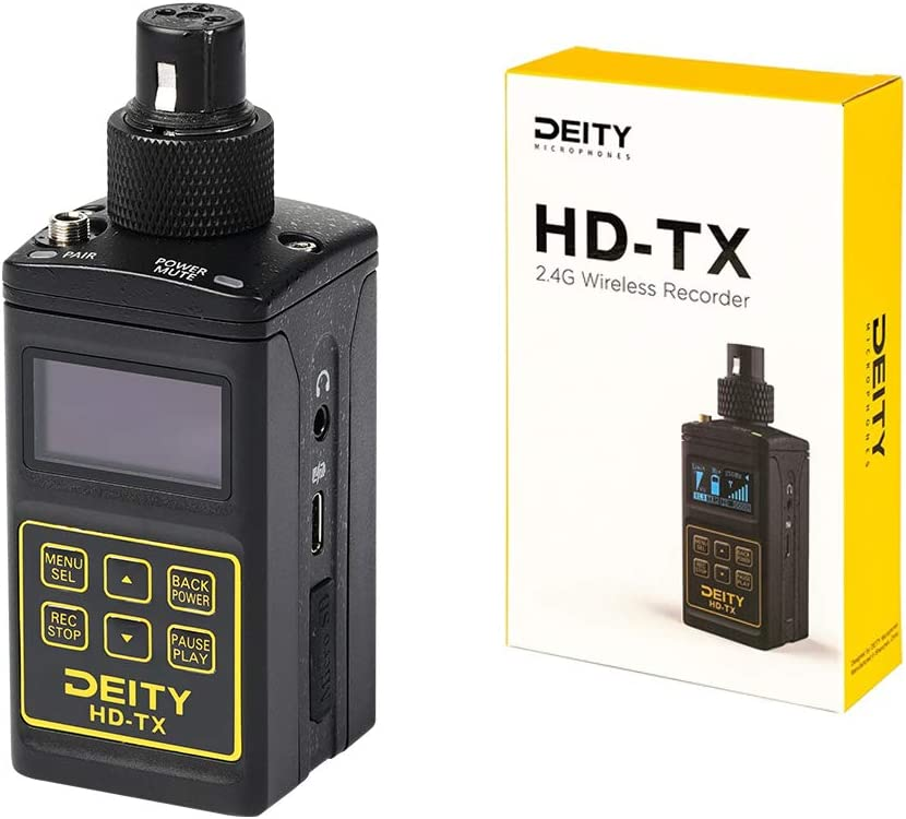 Deity HD-TX Transmit and Record Simultaneously Multiple RF Outputs Headphone Jack