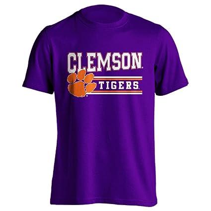 28a7edce306a Clemson University Tigers Classic Mascot Purple Adult Short Sleeve T-Shirt  (Purple, 2X