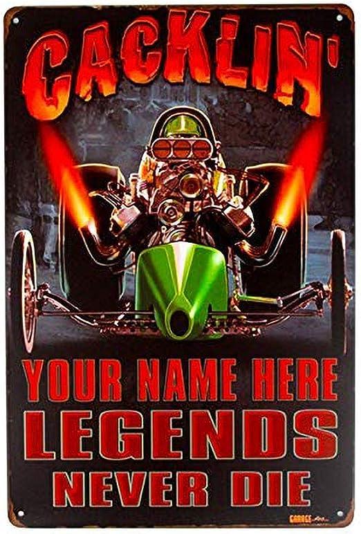 LORENZO Racing Your Name Here Vintage Metal Cartel de Chapa Pared ...