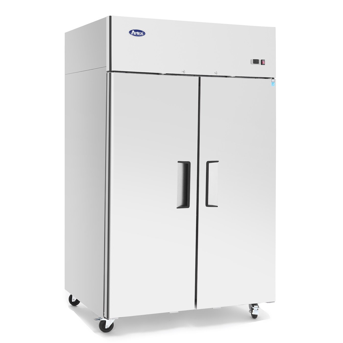 Commercial Refrigerator,ATOSA MBF8005 Double 2 Door Side By Side Stainless Steel Reach in Commercial Refrigerators for Restaurant, Energy Star, 44.5 cu.ft.33℉-38℉ ETL, Fast Delivery - Best Seller!