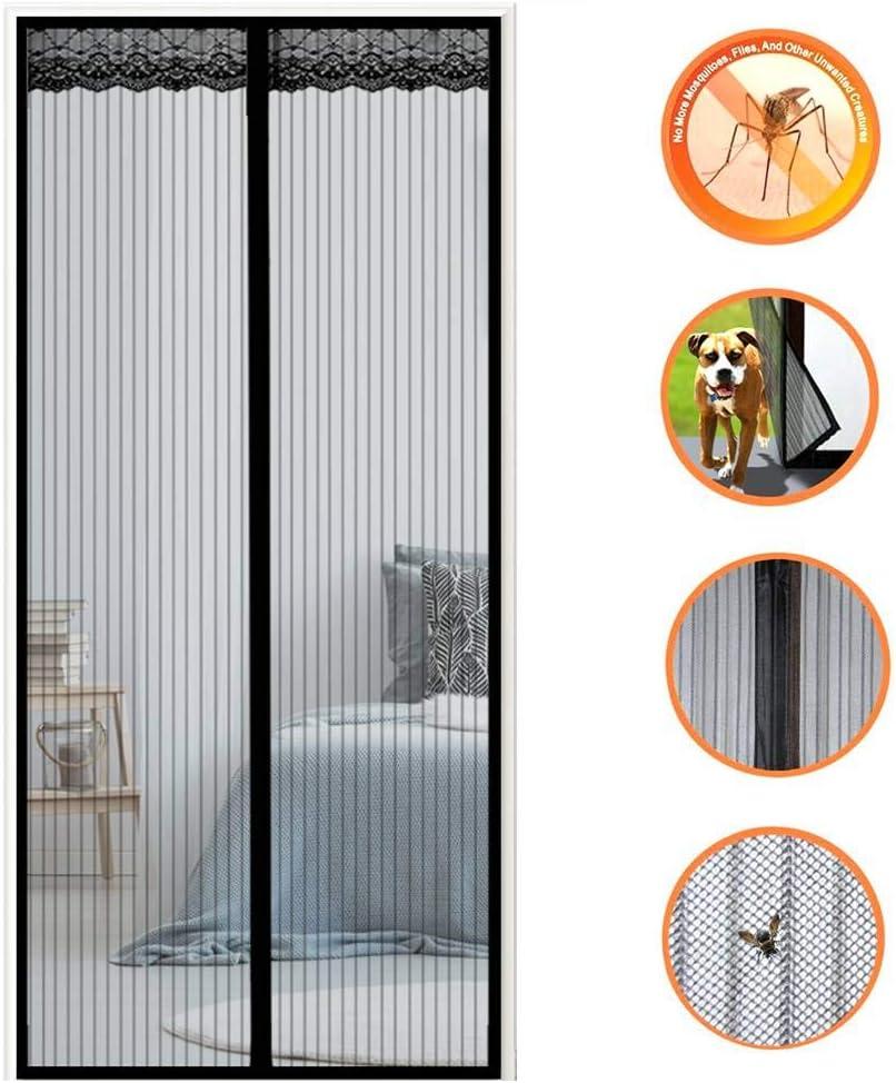 f/ür Balkont/ür Wohnzimmer Terrassent/ür Insektenschutz Schwarz 70x190cm Frei Magnetisch 28x75inch GOUDU Magnet Fliegengitter T/ür Magnetvorhang
