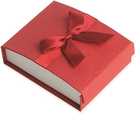 Ecrin para juego – rojo – Caja Regalo Joyas – Cinta Nudo: Amazon ...