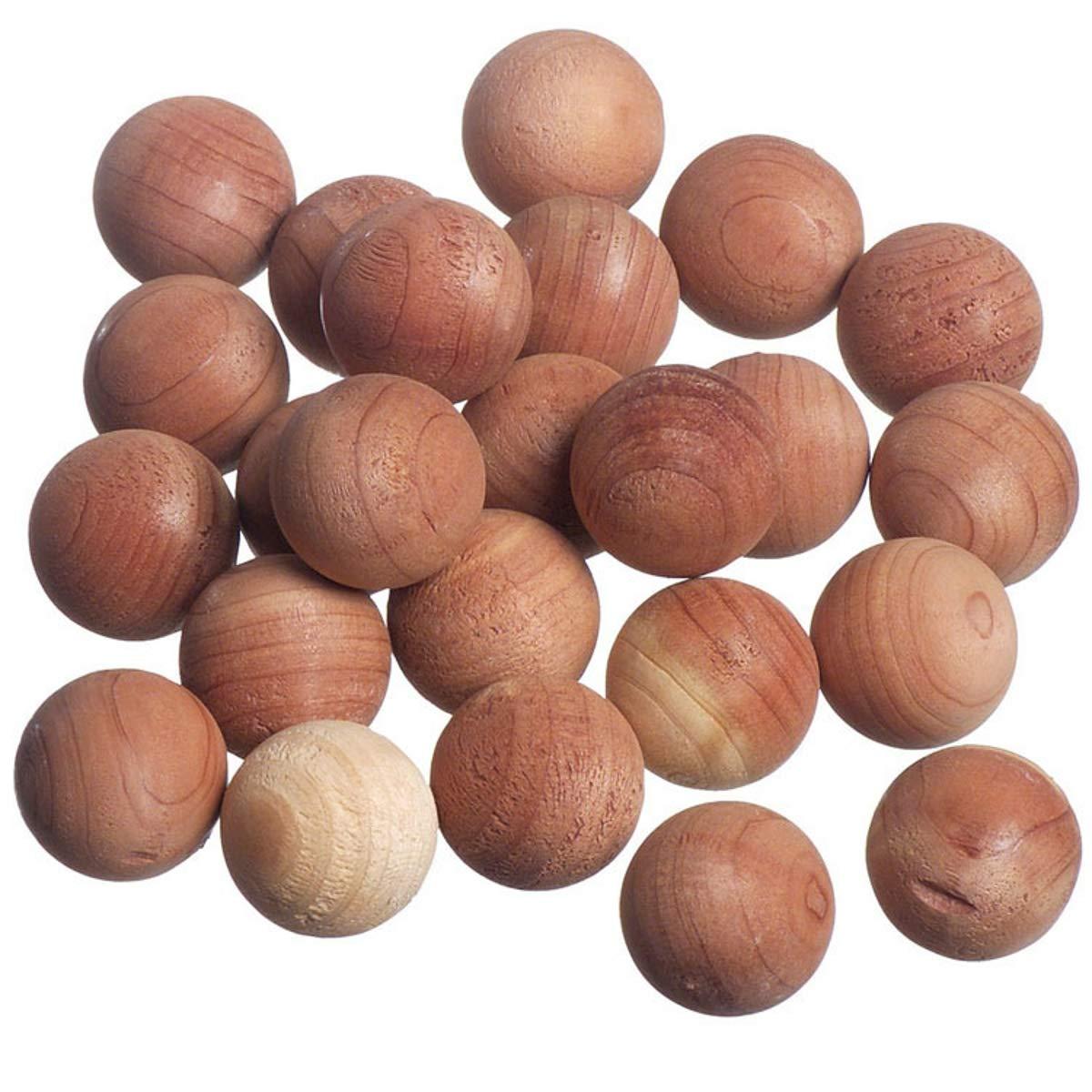 Venxic Natural Cedar Balls Moth Repellent for Closets Drawers Clothes Protector & Gym Shoe Odor Fresh Deodorizer, 50 Pack